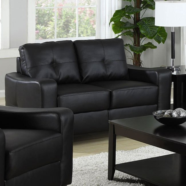 Jasmine Love Seat (Black)