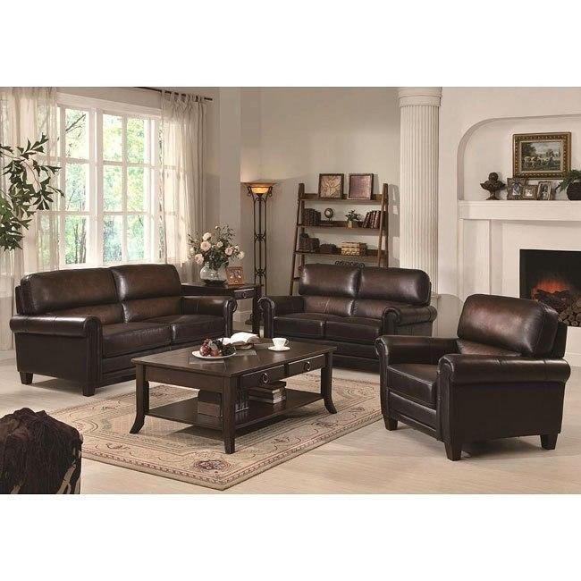 Dublin Leather Living Room Set Coaster Furniture Furniturepick