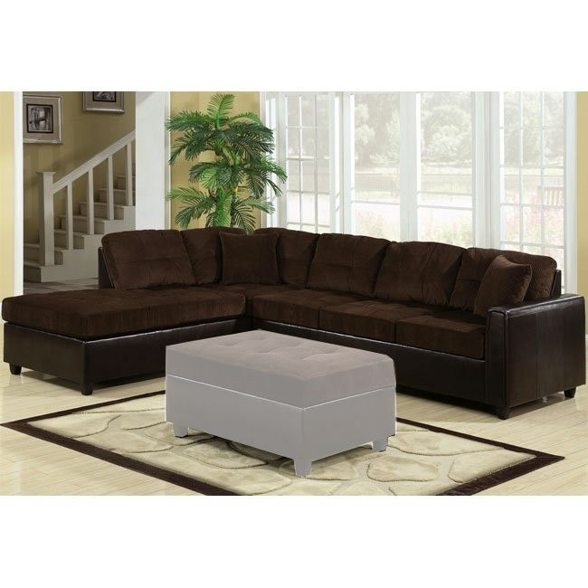 Henri Reversible Sectional (Chocolate/ Black)