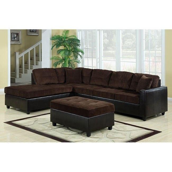 Henri Sectional Living Room Set (Chocolate/ Black)