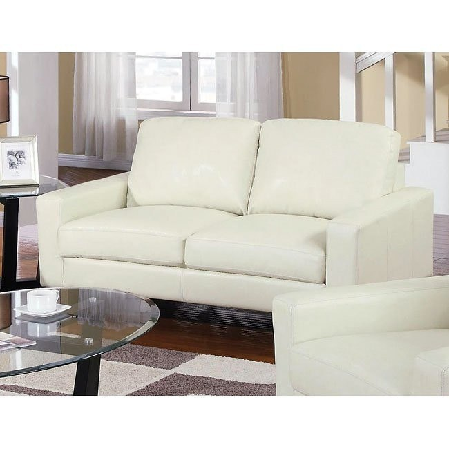 Ava Modern Loveseat (Cream)