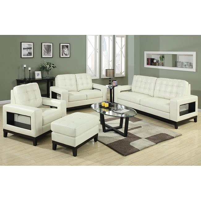 Paige Living Room Set (Cream)