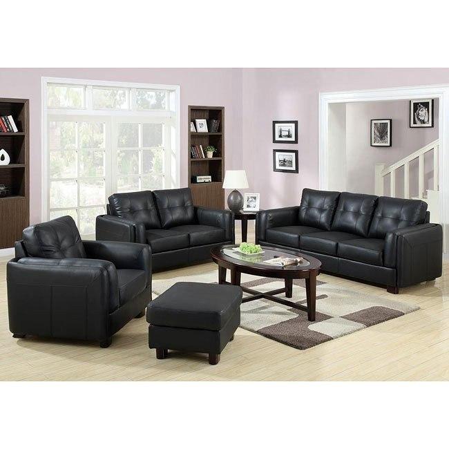Sawyer Living Room Set (Black)