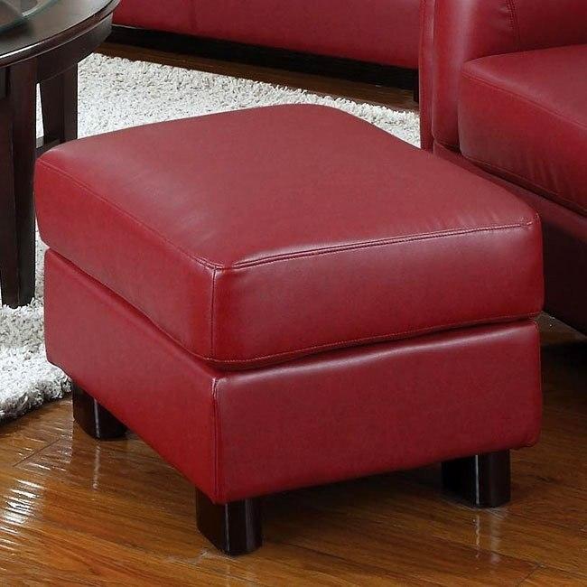 Sawyer Ottoman (Red)