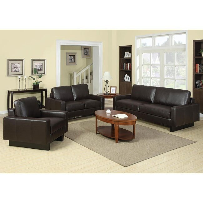 Ava Modern Living Room Set (Brown)