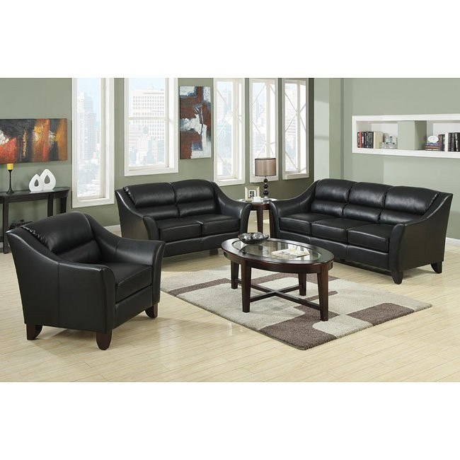 Brooklyn Living Room Set (Black)