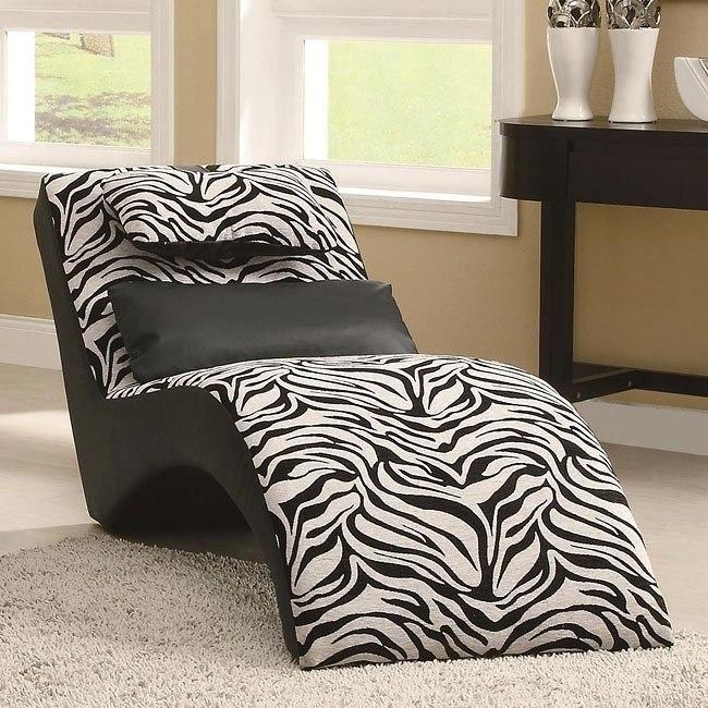 Zebra Pattern Chaise Coaster Furniture Furniturepick