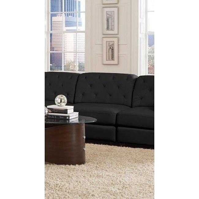 Quinn Armless Chair (Black)