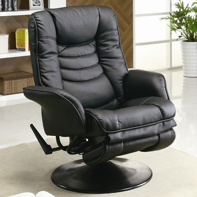 Leather-Like Recliner (Black)