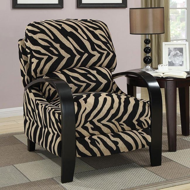 Zebra Push-Back Recliner