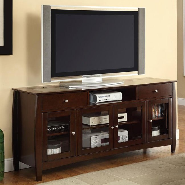Connect-It TV Console in Dark Walnut