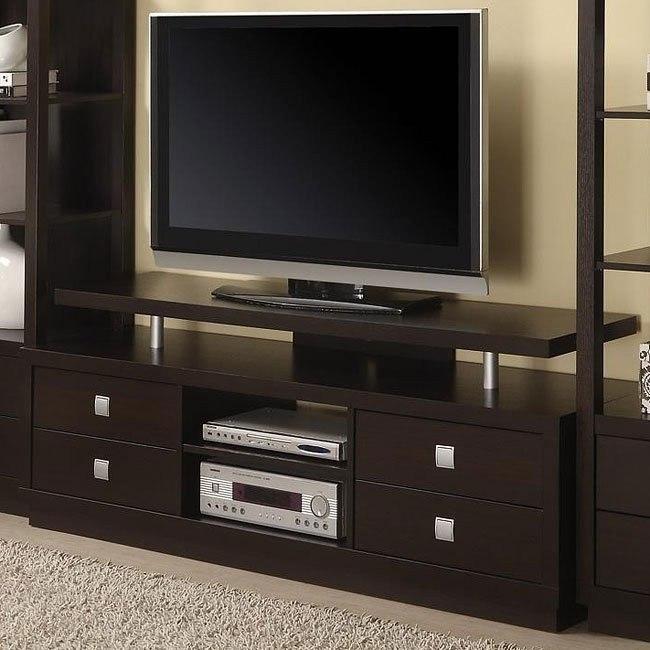 Contemporary TV Console in Cappuccino