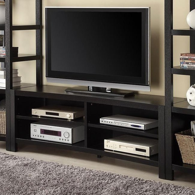 Contemporary TV Console w/ Open Shelves