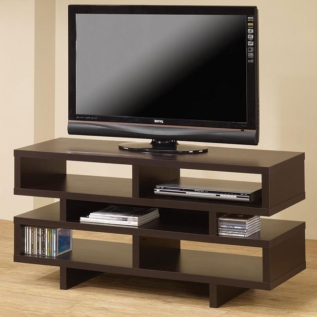 Cappuccino TV Console with Open Storage