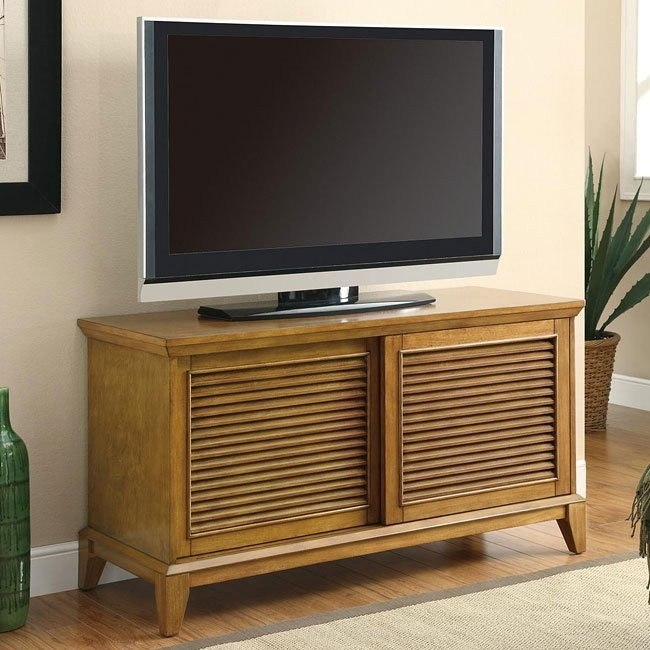 TV Console w/ 2 Shelves and Sliding Doors