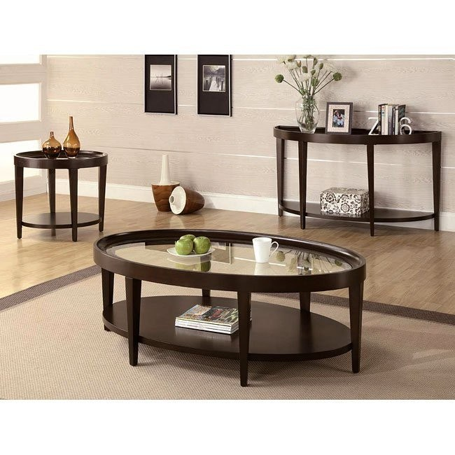 Dark Cherry Occasional Table Set