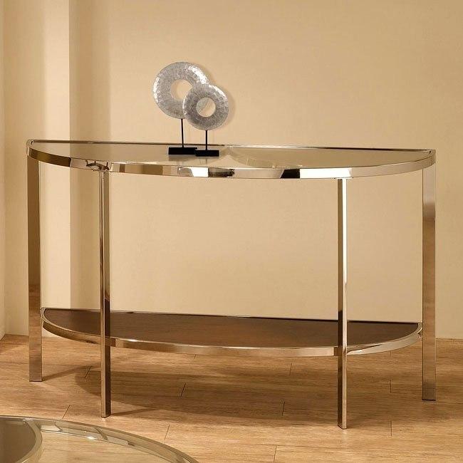 Contemporary Glass Top Sofa Table