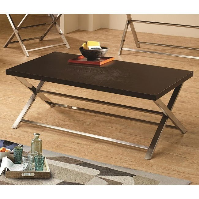 Wood and Metal Modern Coffee Table
