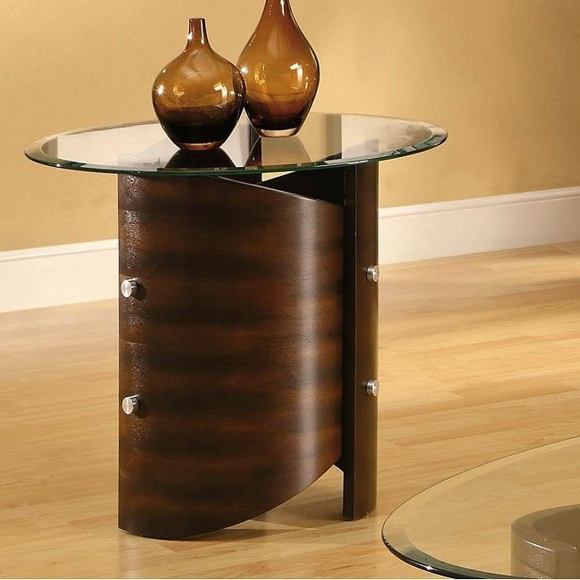 Bentwood Shaped End Table