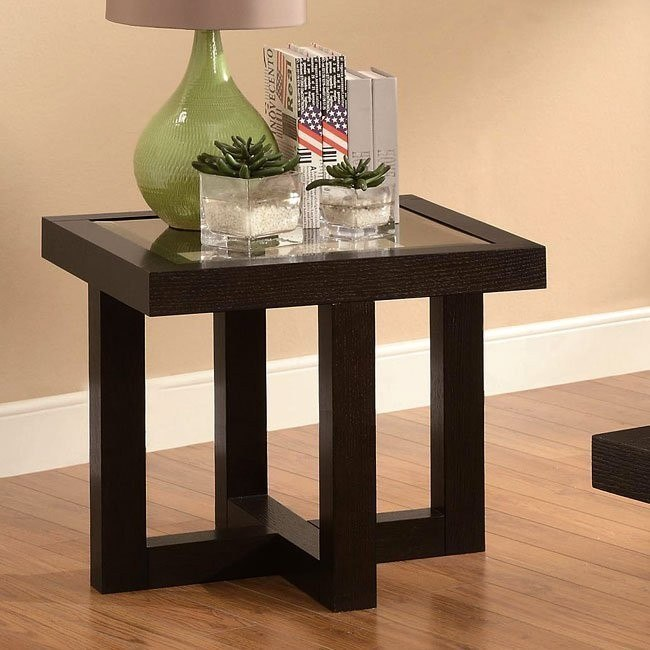 Black Coffee Finish End Table