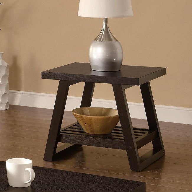 Rich Brown Contemporary End Table