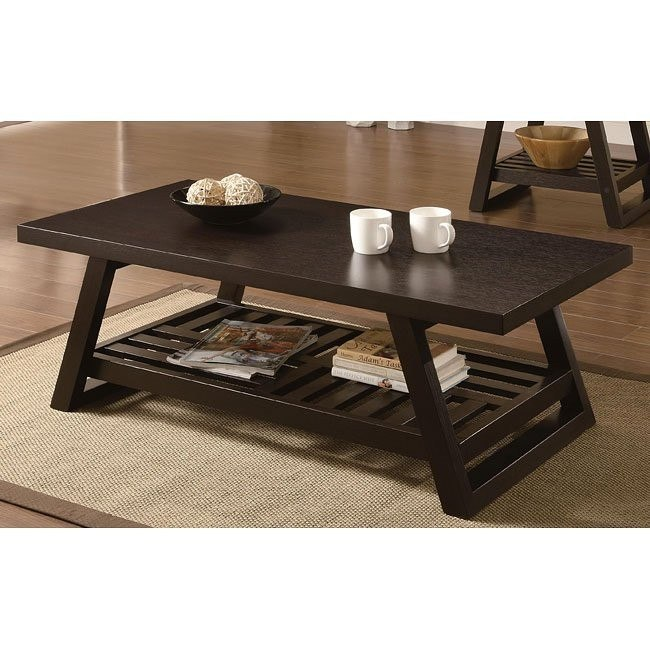 Rich Brown Contemporary Coffee Table