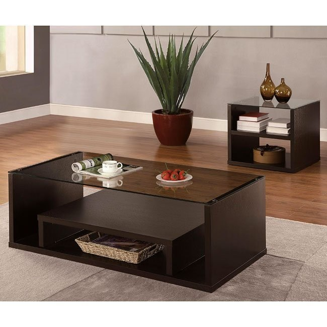 Modern Cappuccino Occasional Table Set