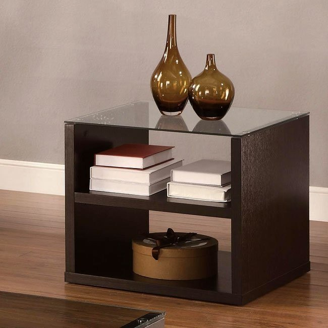 Modern Cappuccino End Table