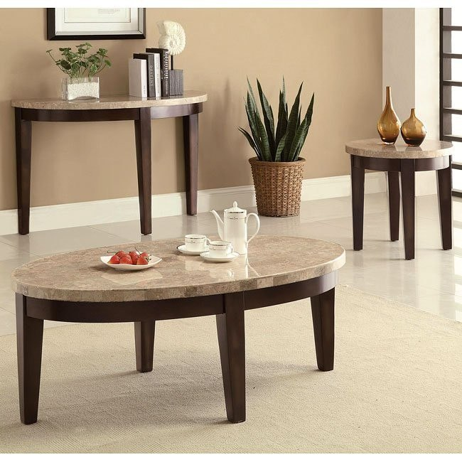 70188 Series Occasional Table Set w/ Marble Top