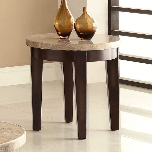 70188 Series End Table w/ Marble Top