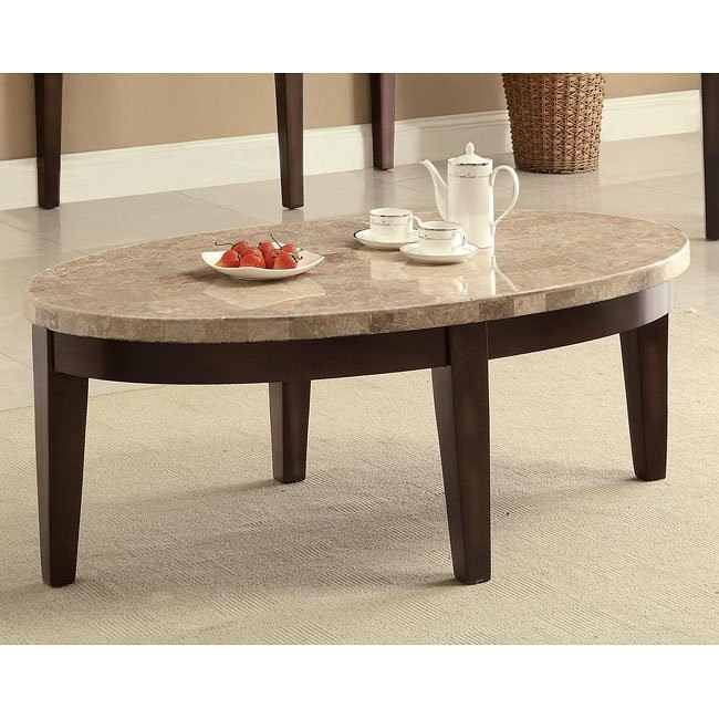 70188 Series Coffee Table w/ Marble Top
