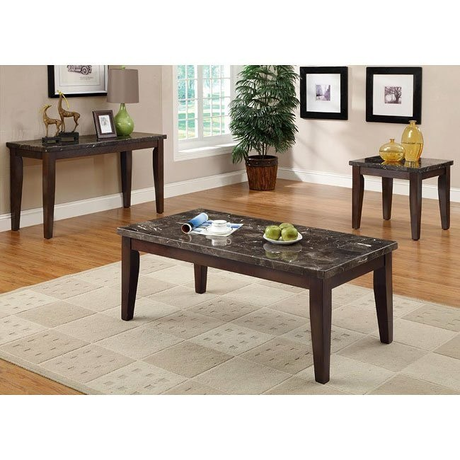 70189 Series Occasional Table Set w/ Marble Top