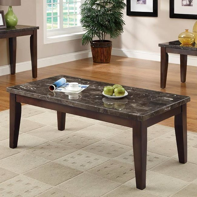 70189 Series Coffee Table w/ Marble Top