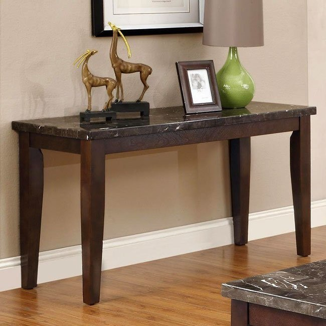 70189 Series Sofa Table w/ Marble Top