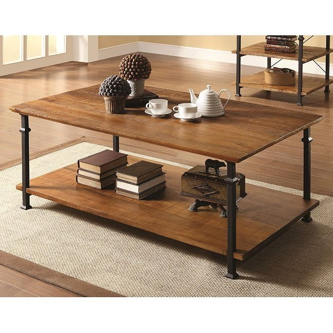 Mission Style Distressed Coffee Table