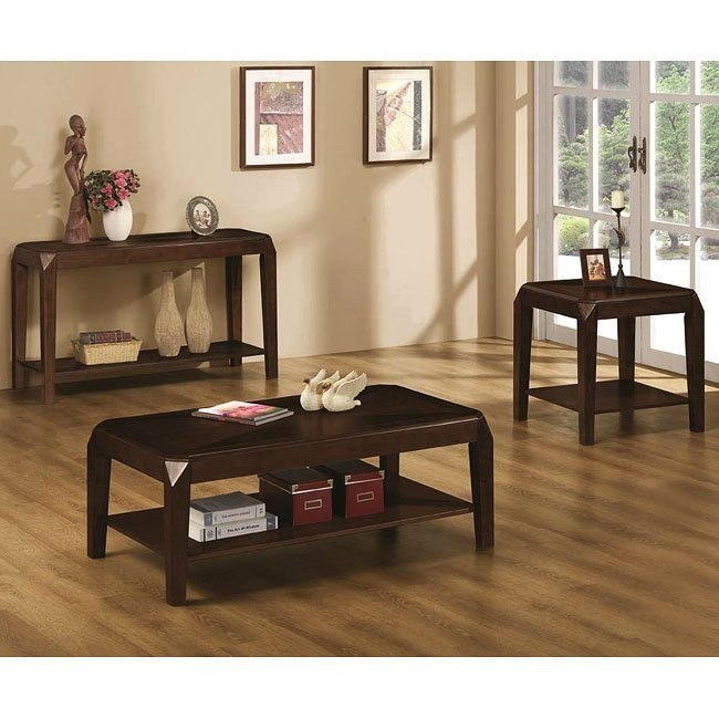 Clip Corner Occasional Table Set
