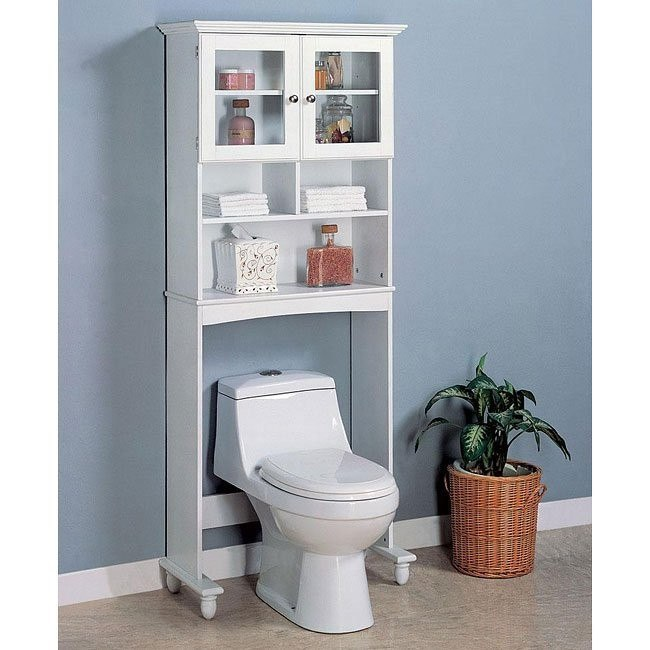 White Bathroom Rack
