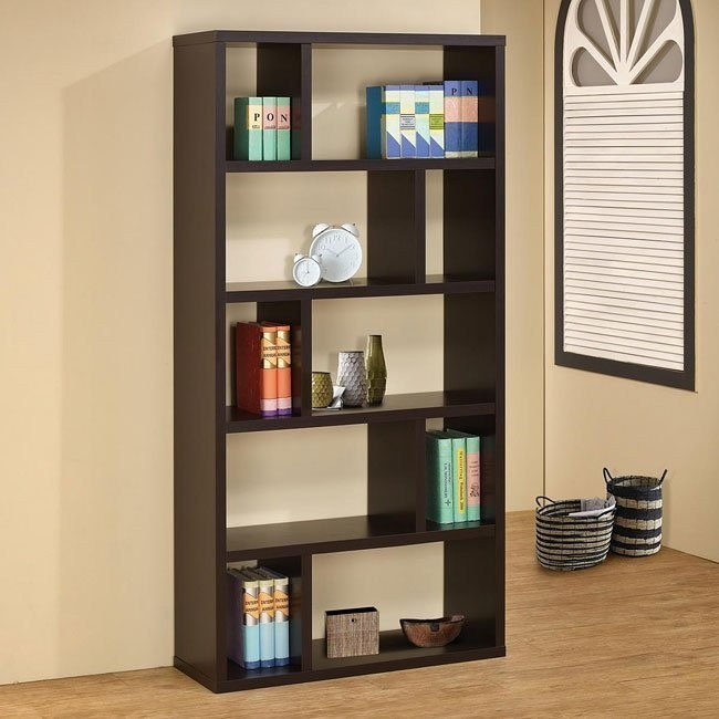 Contemporary Bookshelf in Cappuccino