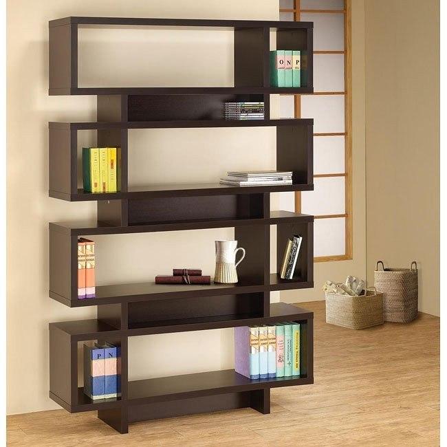 Cappuccino Four Tier Bookcase