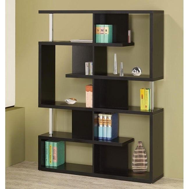 Modern Cappuccino Bookcase