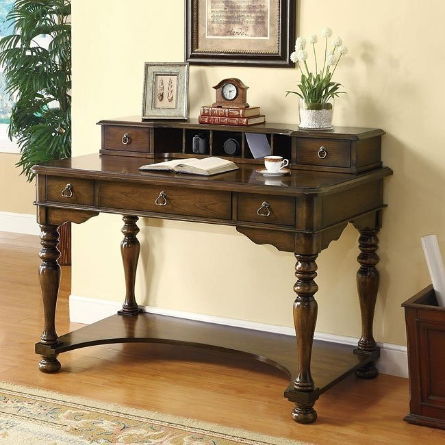 Brown Cherry Traditional Desk
