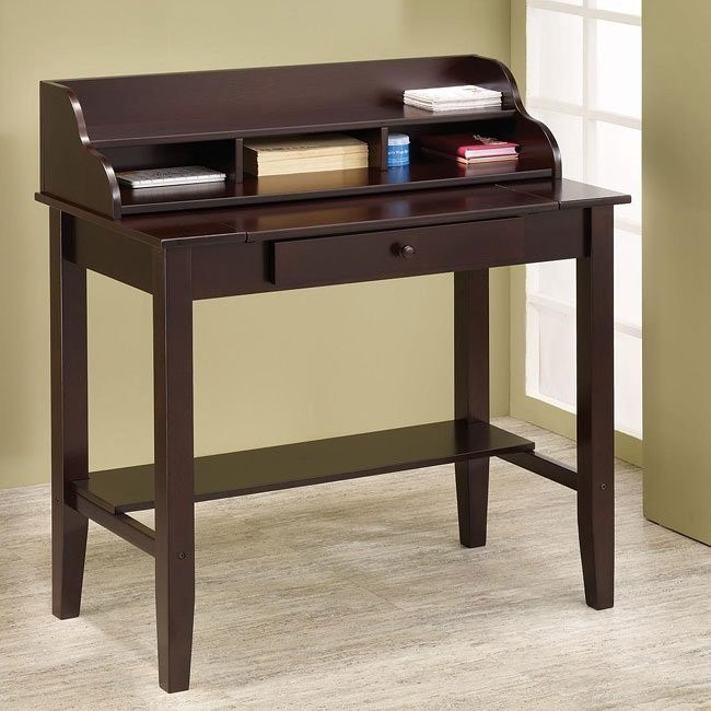 Pull-Out Surface Desk w/ Tiered Storage