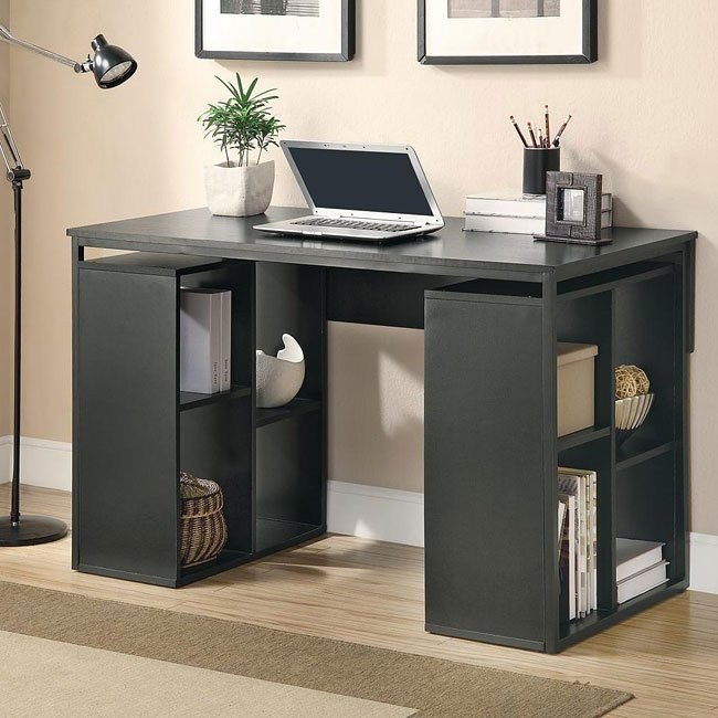 Black Connect-It Desk w/ Storage