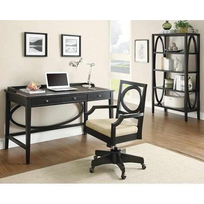 contemporary black home office set coaster furniture