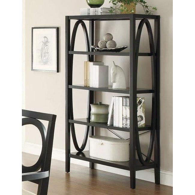 Contemporary Black Bookcase