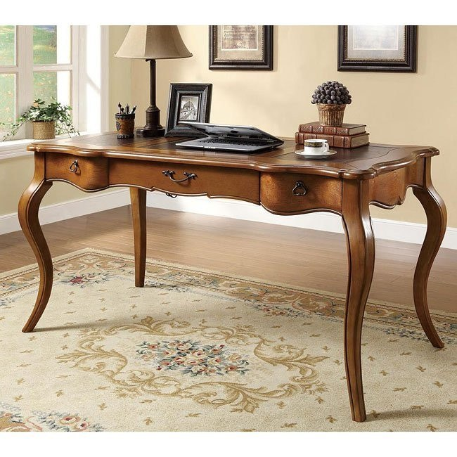 Elegant Traditional Desk w/ Cabriole legs