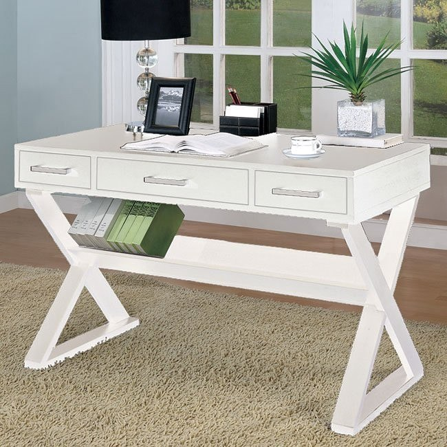 Clean White Home Office Desk
