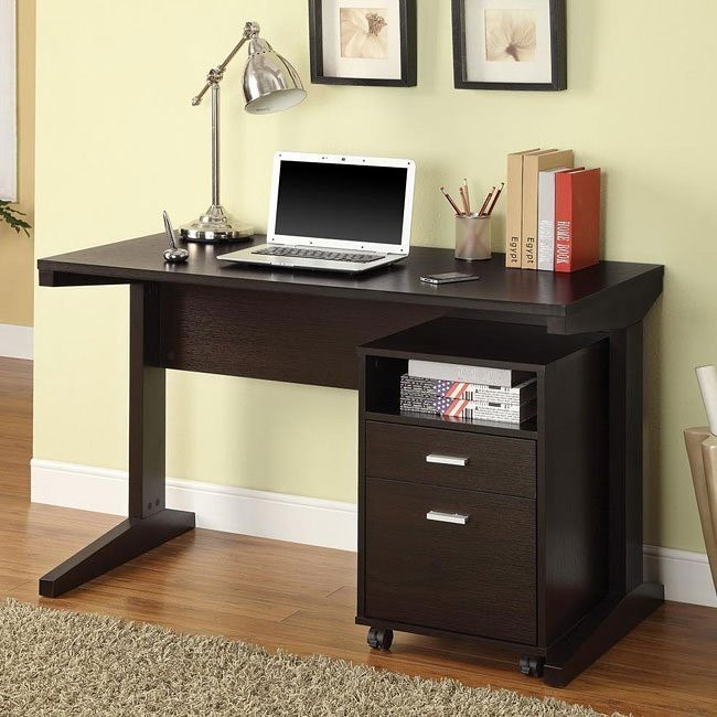 Cocoa Finish 2-Piece Desk Set
