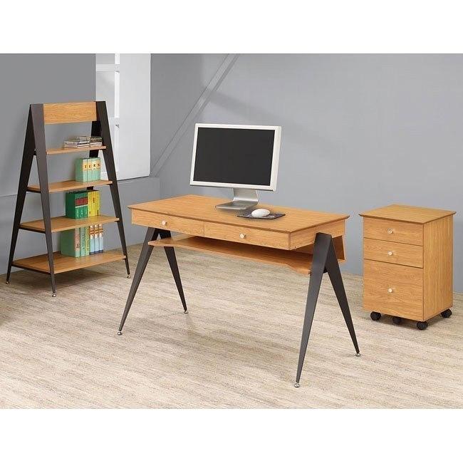Lori Pecan Home Office Set