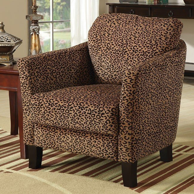 Leopard Accent Chair By True Contemporary: Jungle Accent Chair (Leopard) Coaster Furniture